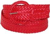 CTM® Women's 2 Inch Wide Adjustable Braided Belt, Xlarge