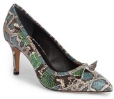 Isabel Marant Women's Poween Snakeskin Embossed Ruffle Pump