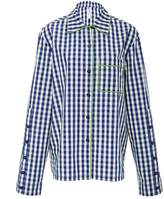 ADAM SELMAN Cotton Gingham Pajama Shirt