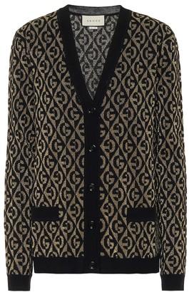 Gucci G wool-blend jacquard cardigan