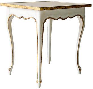 Ave Home Regent Side Table - Antiqued White