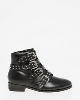 Le Château Studded Almond Toe Ankle Boot