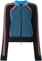 Versace runway knit sport jacket - women - Polyester/Spandex/Elastane/Viscose/Wool - 40