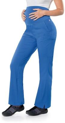 Landau Urbane Women's 5 Pocket Modern Tailored Fit Maternity Waist Medical Scrub Pants 9399