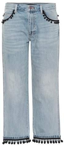 Marc Jacobs Pompom-trimmed jeans