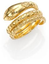 Temple St. Clair Tree of Life 18K Yellow Gold Double Serpent Ring
