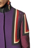 Etro Patchwork Wool Cloth Coat