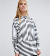 Monki Two Way Striped Shirt