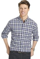 Izod Men's Big and Tall Long Sleeve Oxford Plaid Shirt