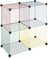 Whitmor 6256-978 Storage Cubes, 1 Each Red Blue Green and Yellow