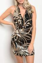 GIBIU Black/gold/silver Sequins Dress