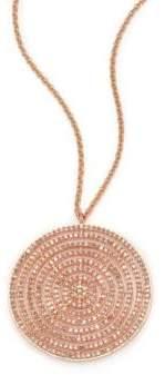Astley Clarke Icon Light Grey Diamond& 14K Rose Gold Aura Long Large Pendant Necklace