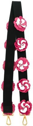 Prada appliqué floral strap