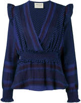 Cecilie Copenhagen Keffiyeh crossover blouse