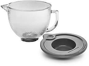 KitchenAid 5-Quart Tilt-Head Hammered Lidded Glass Bowl - Silver