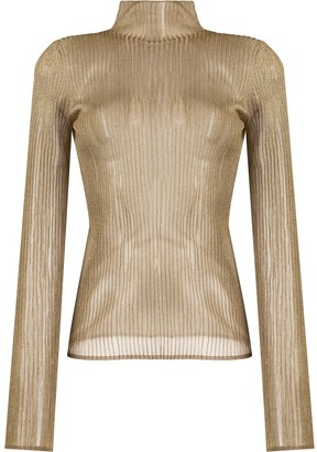 Vince ribbed knitted top