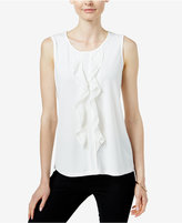 Charter Club Sleeveless Ruffled Top, Only at Macy's