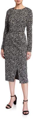 Donna Morgan Long-Sleeve Stretch Knit Jacquard Dress