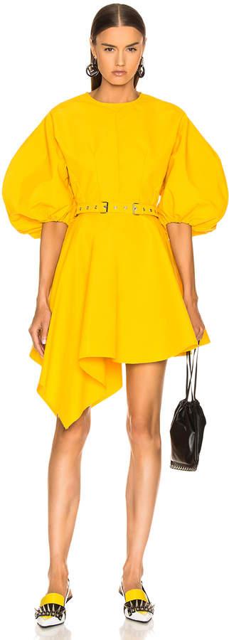 Marques Almeida Marques ' Almeida Round Sleeve Dress in Yellow | FWRD