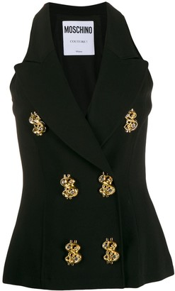 Moschino Embellished Buttons Vest