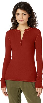 AG Jeans Women's VEDA Thermal Long Sleeve Henley