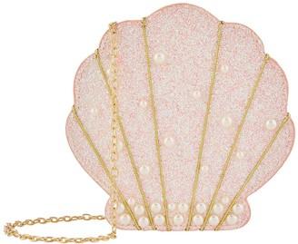 Monsoon Girls Livia Pearl Shell Bag - Pink