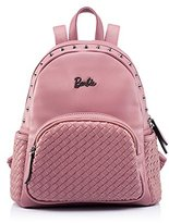 Barbie Retro Fashion PU Leather Solid Pattern Women Girls Bags Backpack #BBBP038