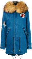 Mr & Mrs Italy embroidered denim parka