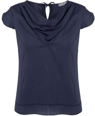 Klaudia Karamandi Waterfall Blue Modal-Silk Shirt