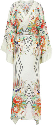 Camilla Maiko Crystal-embellished Silk Crepe De Chine Maxi Wrap Dress