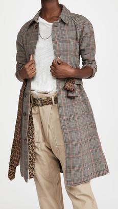 R 13 3/4 Sleeve Coat With Double Belt