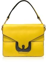 Coccinelle Ambrine Graphic Sunflower Leather Satchel Bag