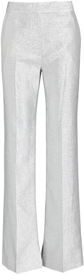 3.1 Phillip Lim Metallic Lame Wide-Leg Trousers