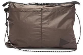 and wander Logo-print Ripstop-nylon Cross-body Bag - Grey