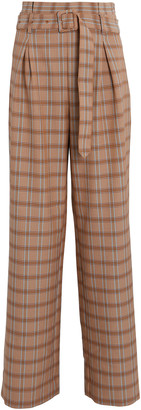 Gestuz Jin Plaid Wide-Leg Pants