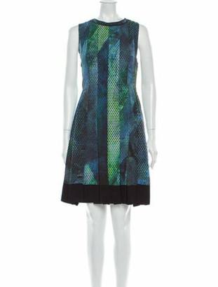 Proenza Schouler Silk Knee-Length Dress Blue