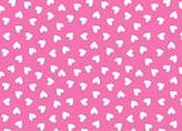 SheetWorld Fitted Square Playard Sheet (Fits Joovy) - Primary Hearts White On Pink Woven - Made In USA - 37.5 inches x 37.5 inches (95.25 cm x 95.25 cm)