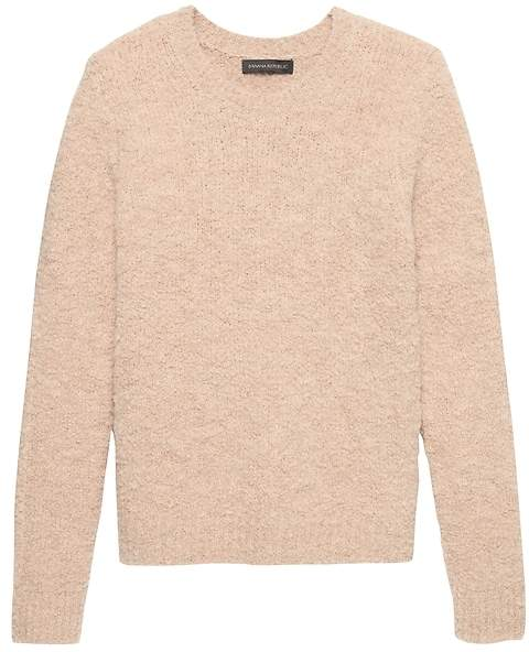 Banana Republic Bouclé Crew-Neck Sweater