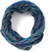Collection 18 Chevron-Pleated Infinity Scarf