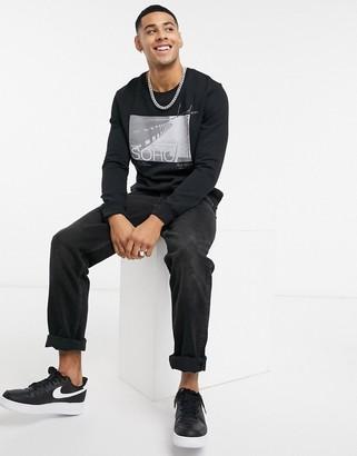 Burton Menswear Soho sweat in black