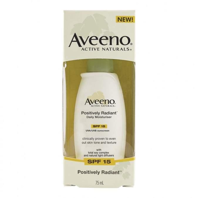 Aveeno Positively Radiant Daily Moisturiser SPF15 75 mL