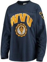 Unbranded Women's Navy West Virginia Mountaineers Edith Long Sleeve T-Shirt