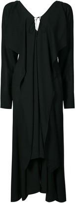 Yohji Yamamoto zip front maxi dress