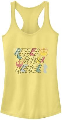 Star Wars Juniors' Colorful Doodle Rebel Word Stack Tank