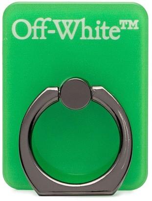 Off-White logo-print PVC popsocket