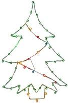 Vickerman Light-Up Christmas Tree Wire Motif Multicolored (48x32)