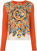 Tory Burch geometric patterned jumper