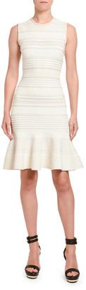 Alexander McQueen Textured Silk Jersey Sleeveless Dress
