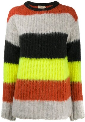 MAISON KITSUNÉ Textured Stripe Knit Jumper