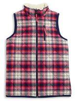 Vineyard Vines Toddler's, Little Girl's & Girl's Reversible Plaid & Faux Fur Vest